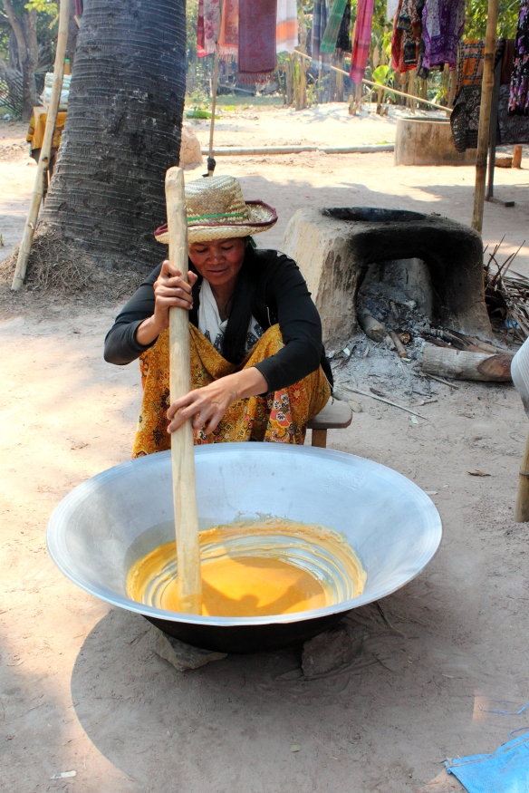 Stirring the Sugar Syrup