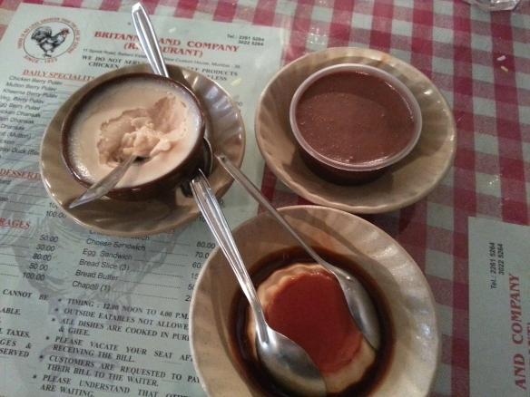 Caramel Custard, Chocolate Mousse, Mishti Doi