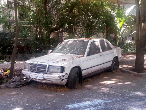 Abandoned Mercedes Benz
