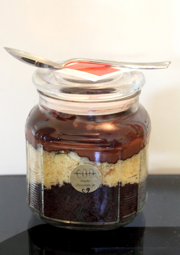 Haute Chocolate and Hazelnut Cake in a Jar