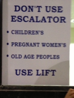 Unusual Sign-For all you Old Age Peoples