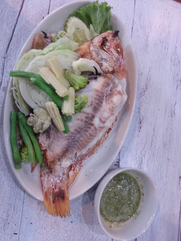 Salt Crusted Barbecued Snapper