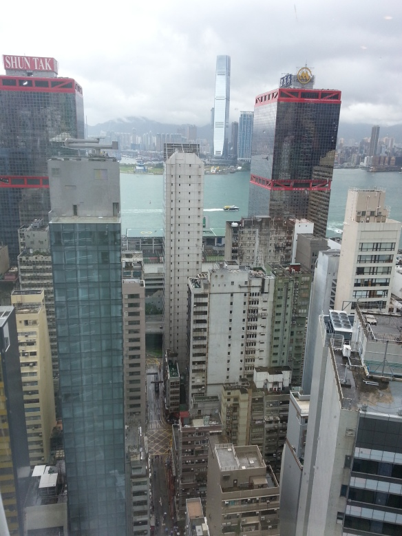 View across the Hong Kong Harbour with the Ritz Carlton in the background