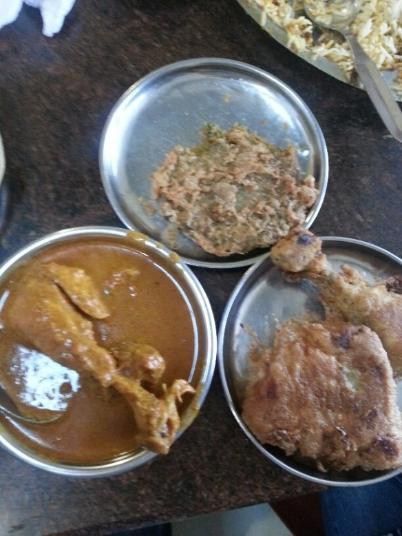 Mutton Cutlet, Chicken Masala, and the heavenly Chicken Farcha