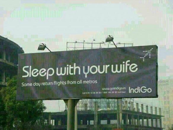 Sleep with your wife