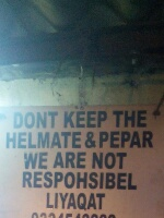We are not responsible